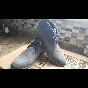 🌈 MENS ⚓️Greyish blue suede desert boot
